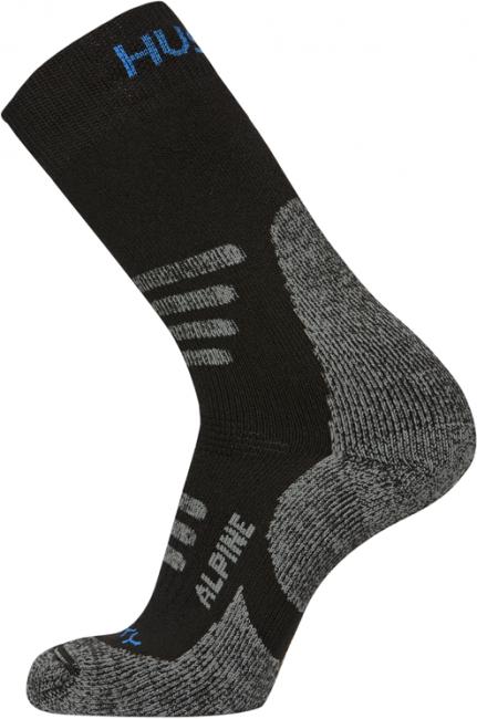 Ponožky   Alpine XL (45-48), černo/oranžová