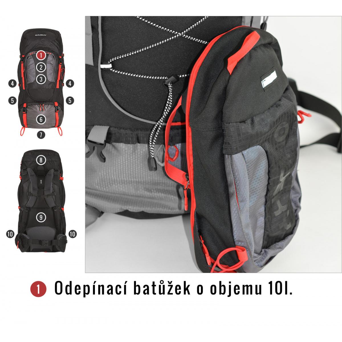 bf0b8e185f Batoh Expedice - Samont 60+10 l – černá