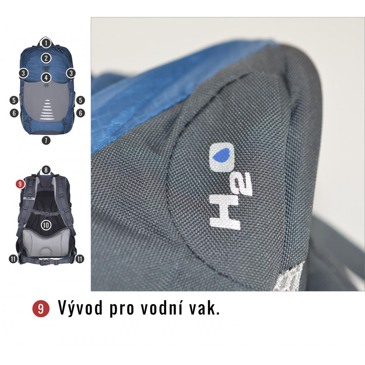 1ec265b532 Batoh Turistika   Cyklo - Skid 26l – modrá
