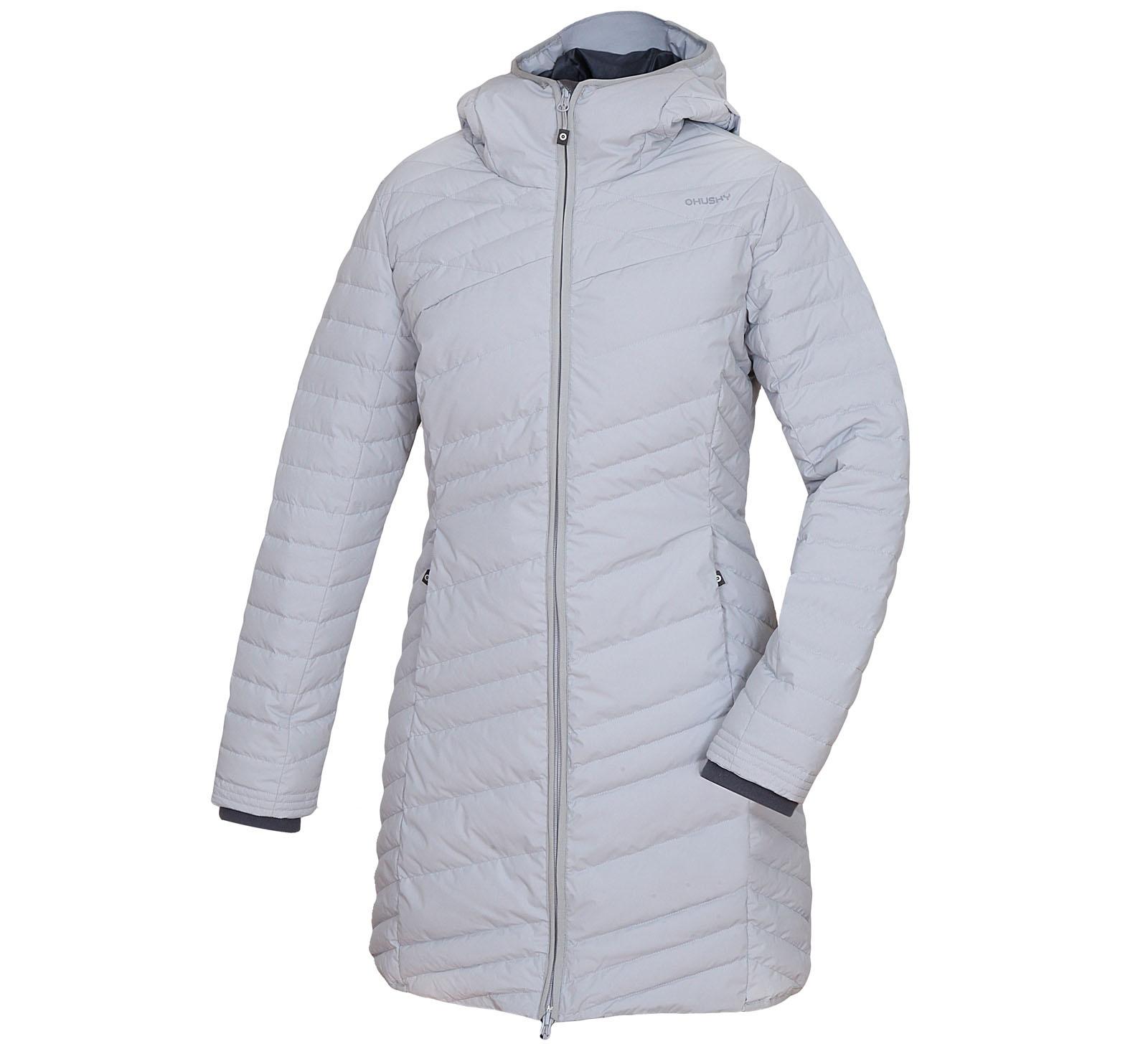 Husky Daili XL, sv. šedá Dámský péřový kabátek