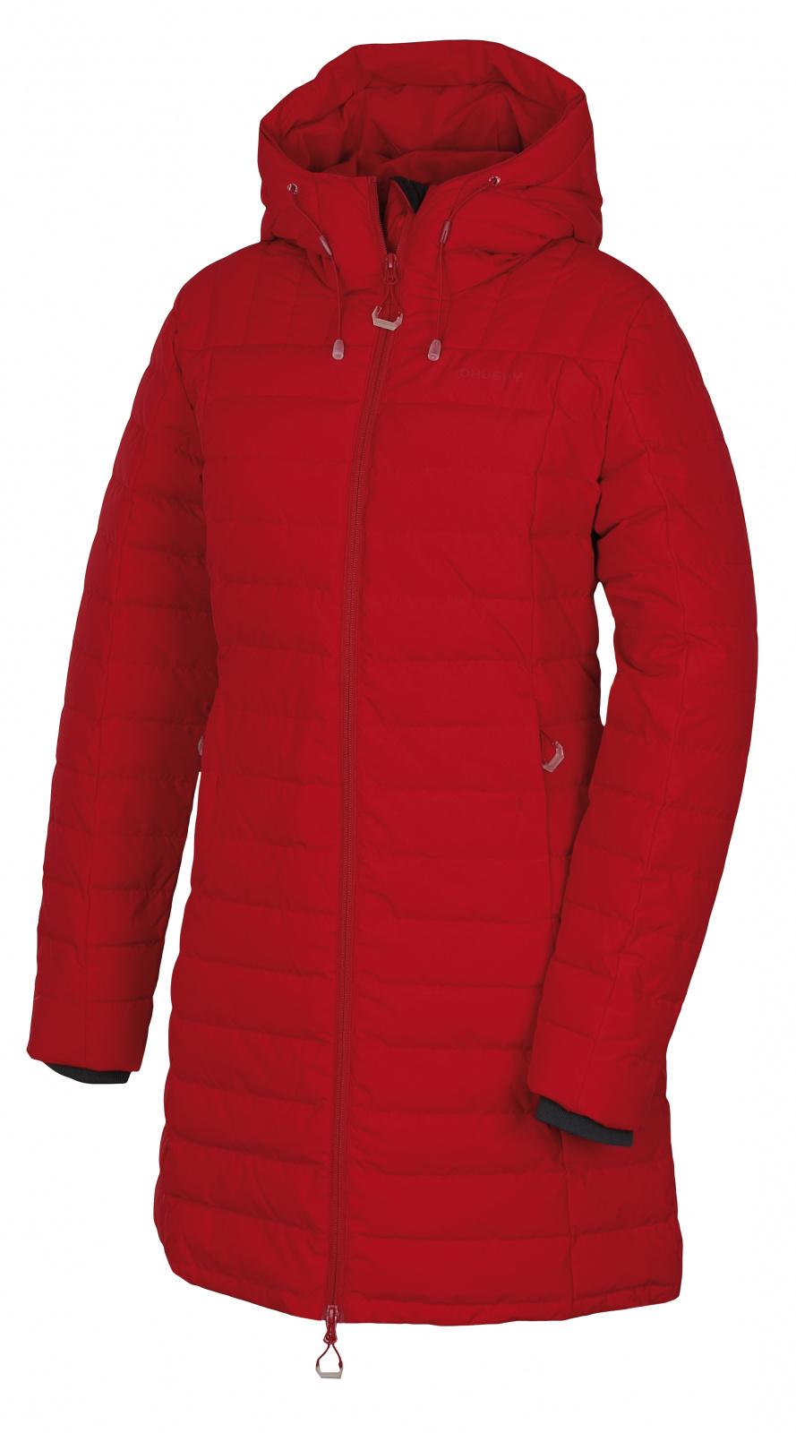 Husky Daili L M, červená Dámský péřový kabátek