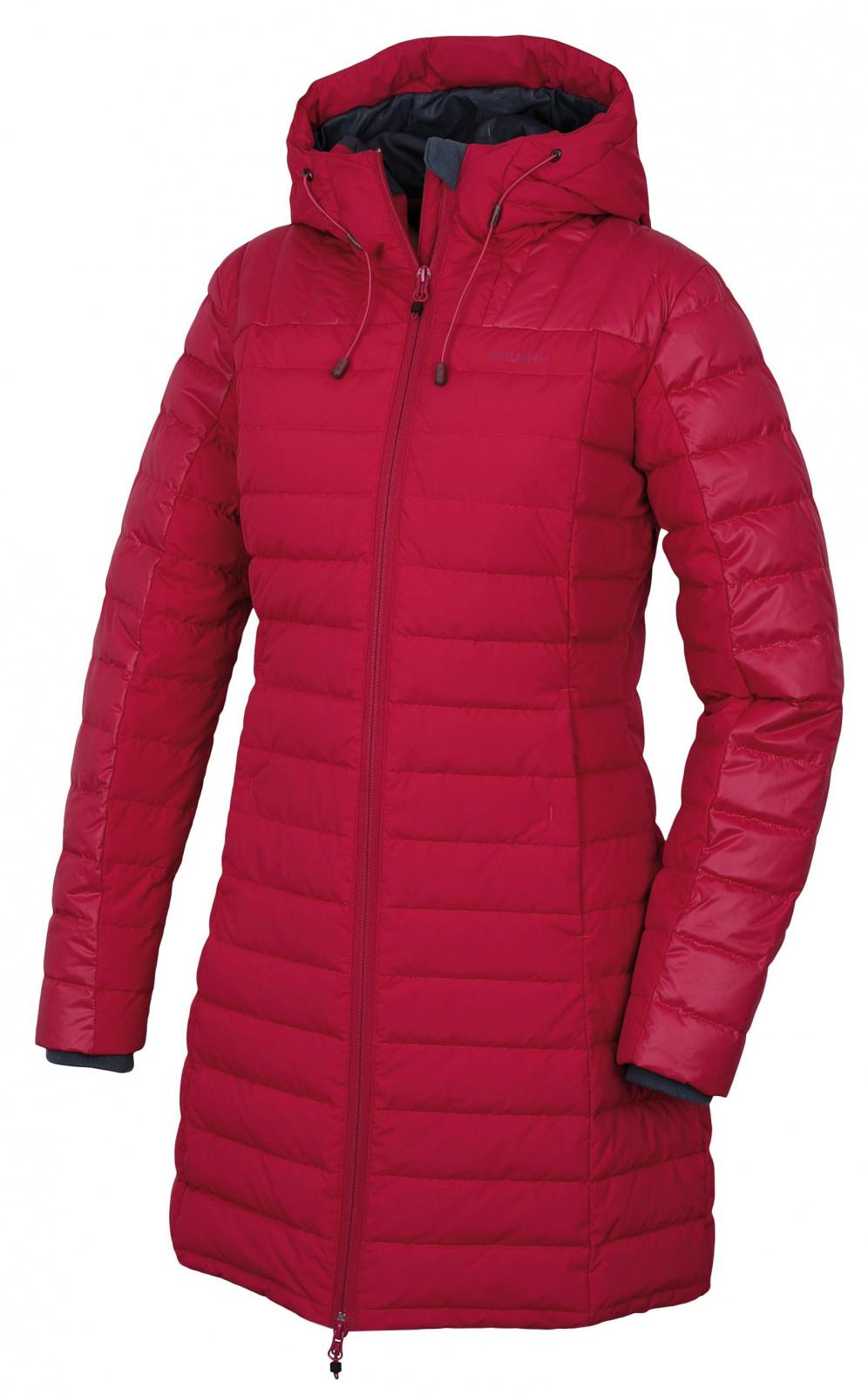 Husky Daili L S, purpurová Dámský péřový kabátek