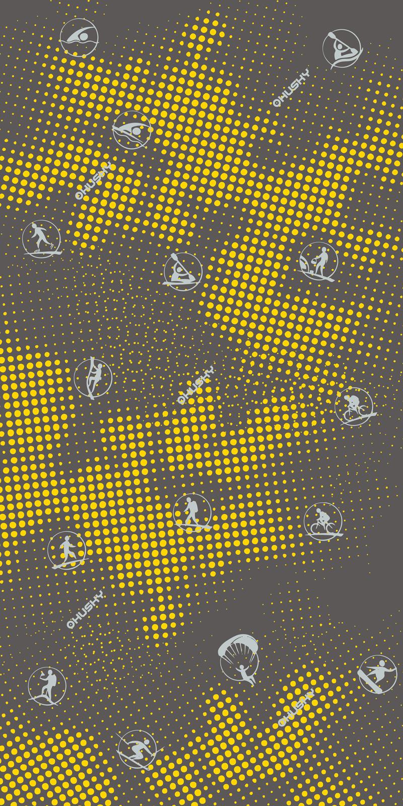 multifunkční šátek   Dundy žlutá