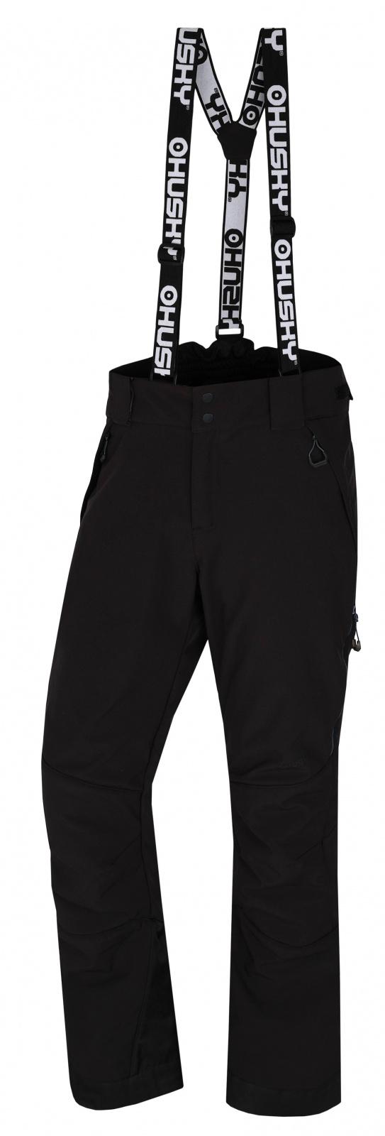 Husky Galti M M, černá Pánské lyžařské kalhoty