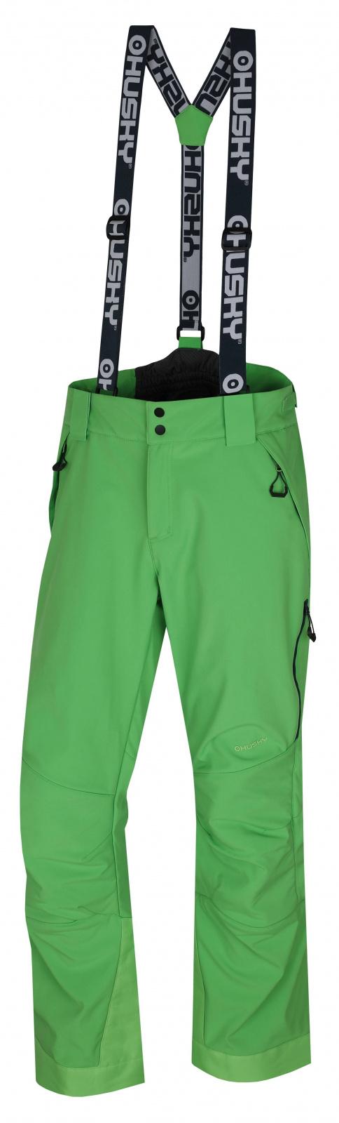 Husky Galti M XL, sv. zelená Pánské lyžařské kalhoty