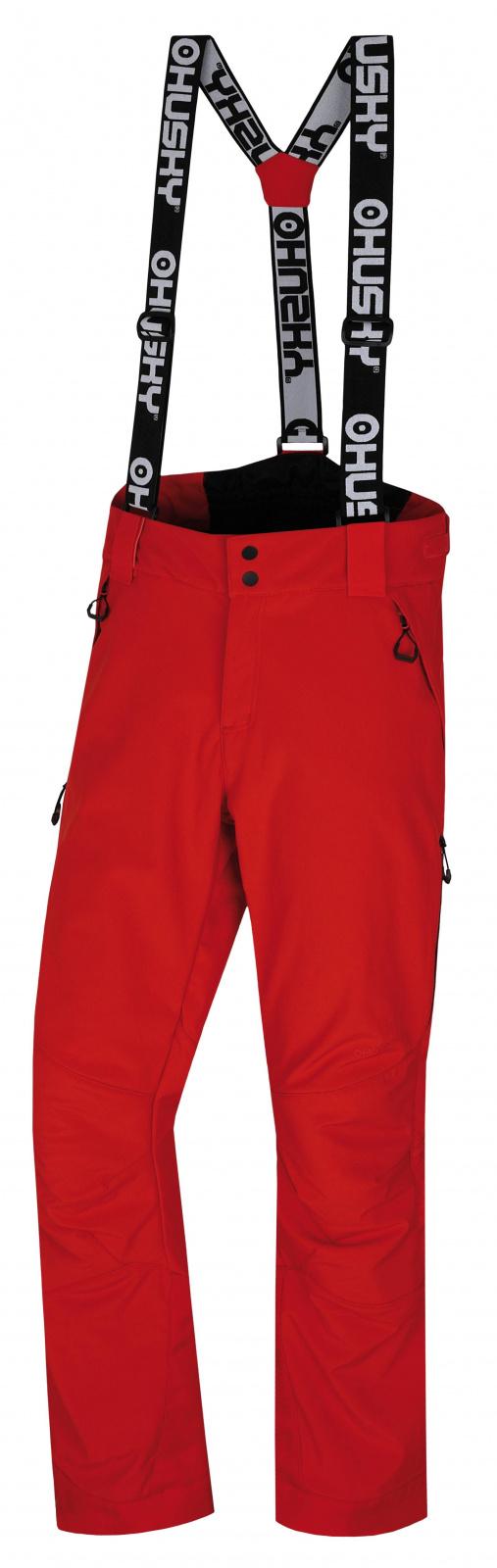 Husky Galti M XXL, červená Pánské lyžařské kalhoty