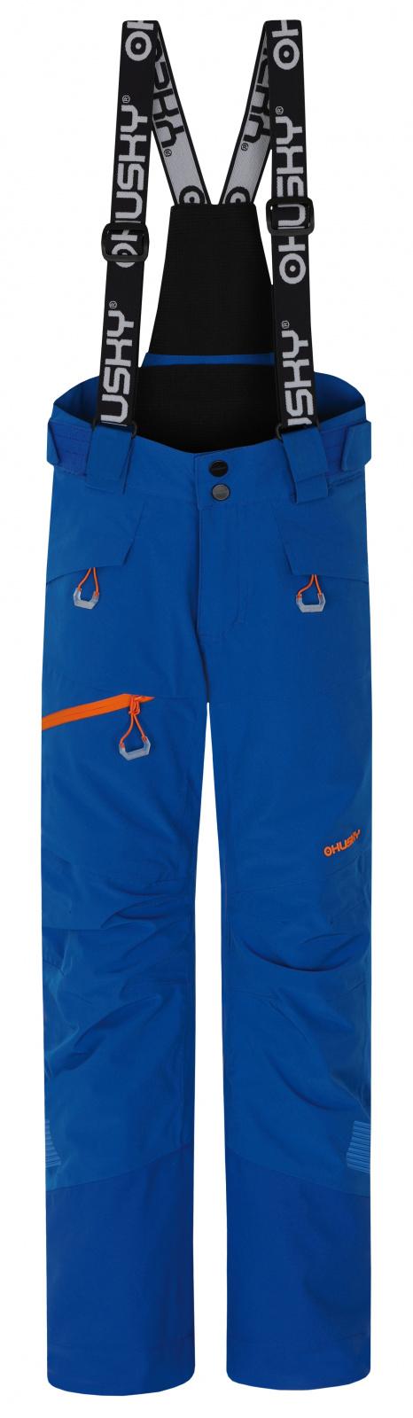 Husky Gilep Kids 134, modrá Dětské lyžařské kalhoty