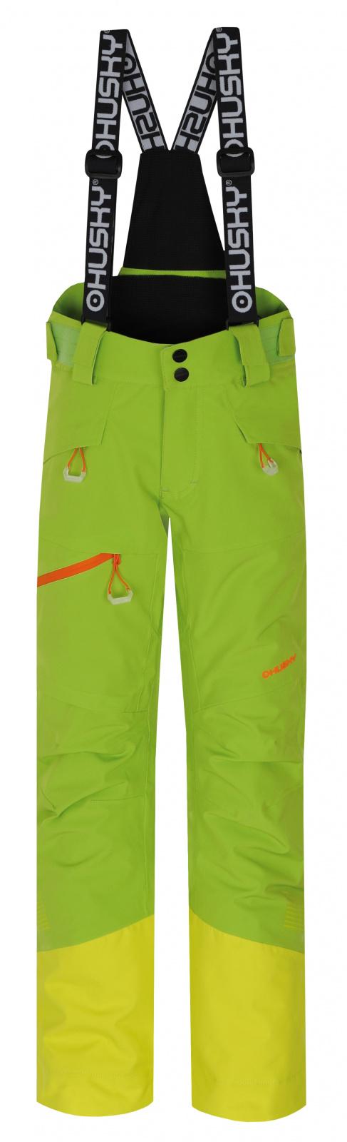 Husky Gilep Kids 134, zelená Dětské lyžařské kalhoty