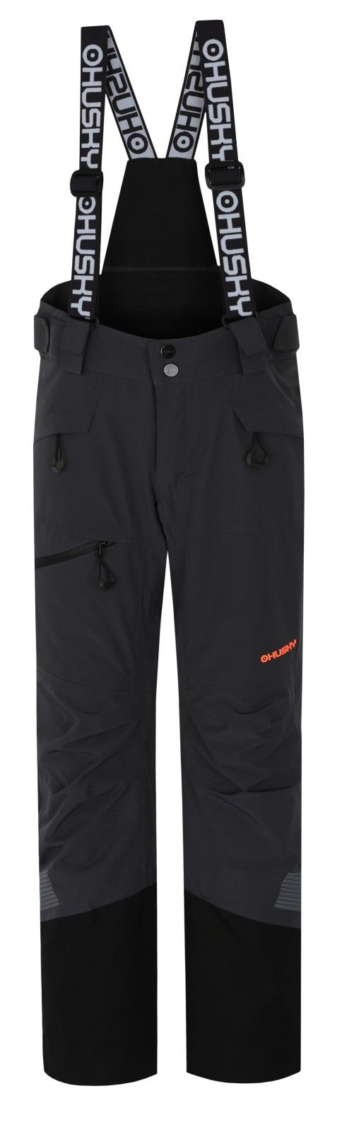 Husky Gilep Kids 134, tm. šedá Dětské lyžařské kalhoty