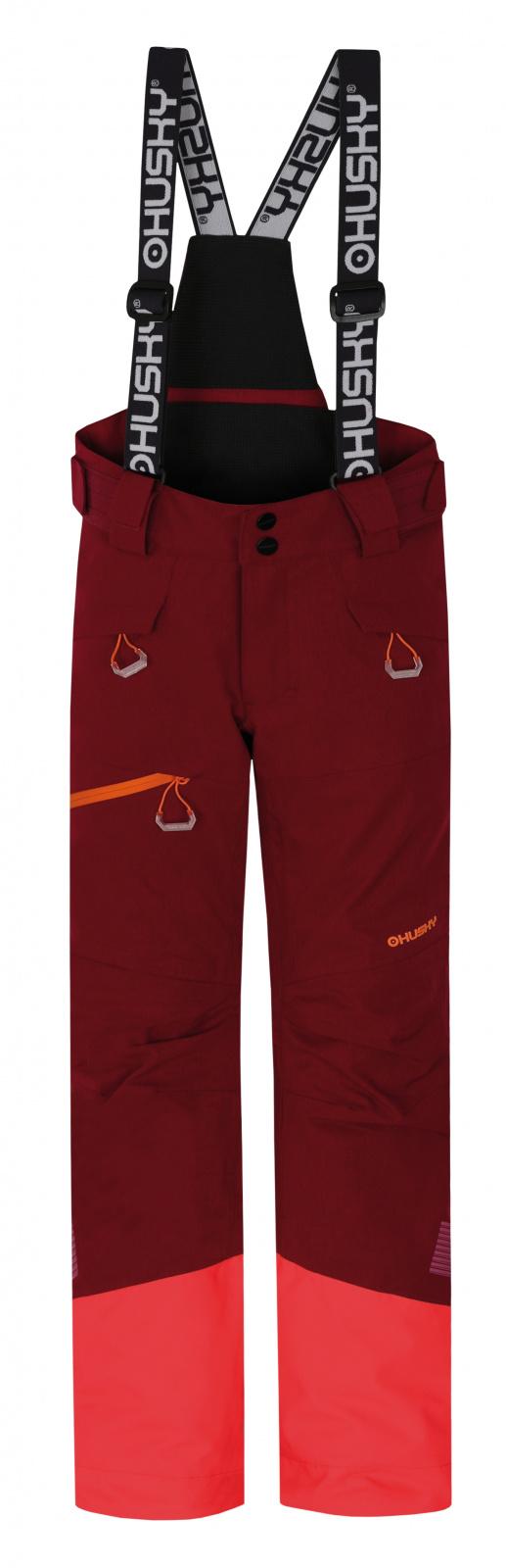 Husky Gilep Kids 134, purpurová Dětské lyžařské kalhoty