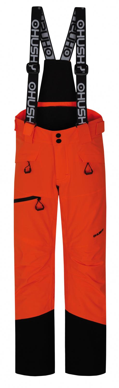 Husky Gilep Kids 134, neonově oranžová Dětské lyžařské kalhoty