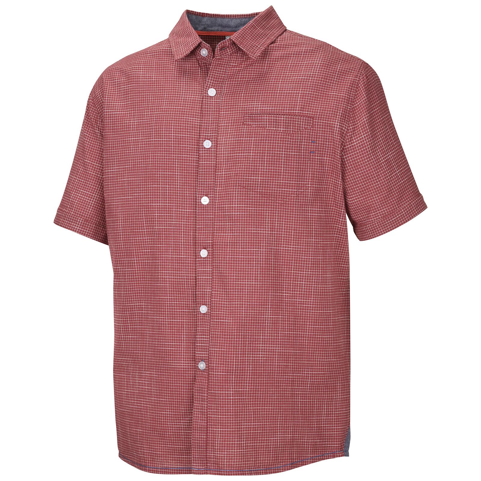 Levně Husky Grimy M M, tm. červená Pánská košile