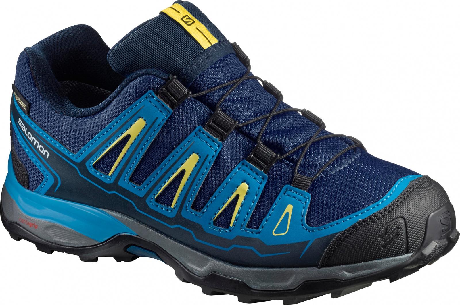 Salomon X-ultra GTX EU 34, Blue Depths/Cloisonné/Blazing Yellow Dětské boty