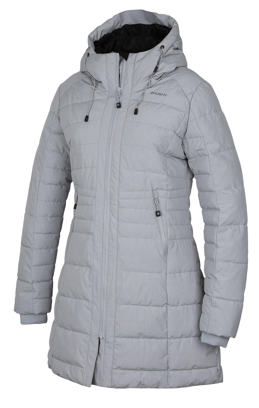 Husky Normy XL, sv. šedá Dámský zimní kabátek