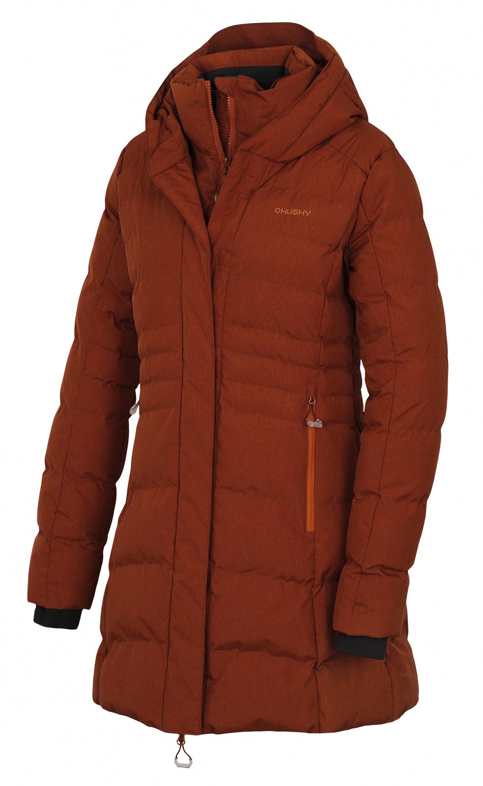 Levně Husky Normy L M, hnědá Dámský hardshell plněný kabátek