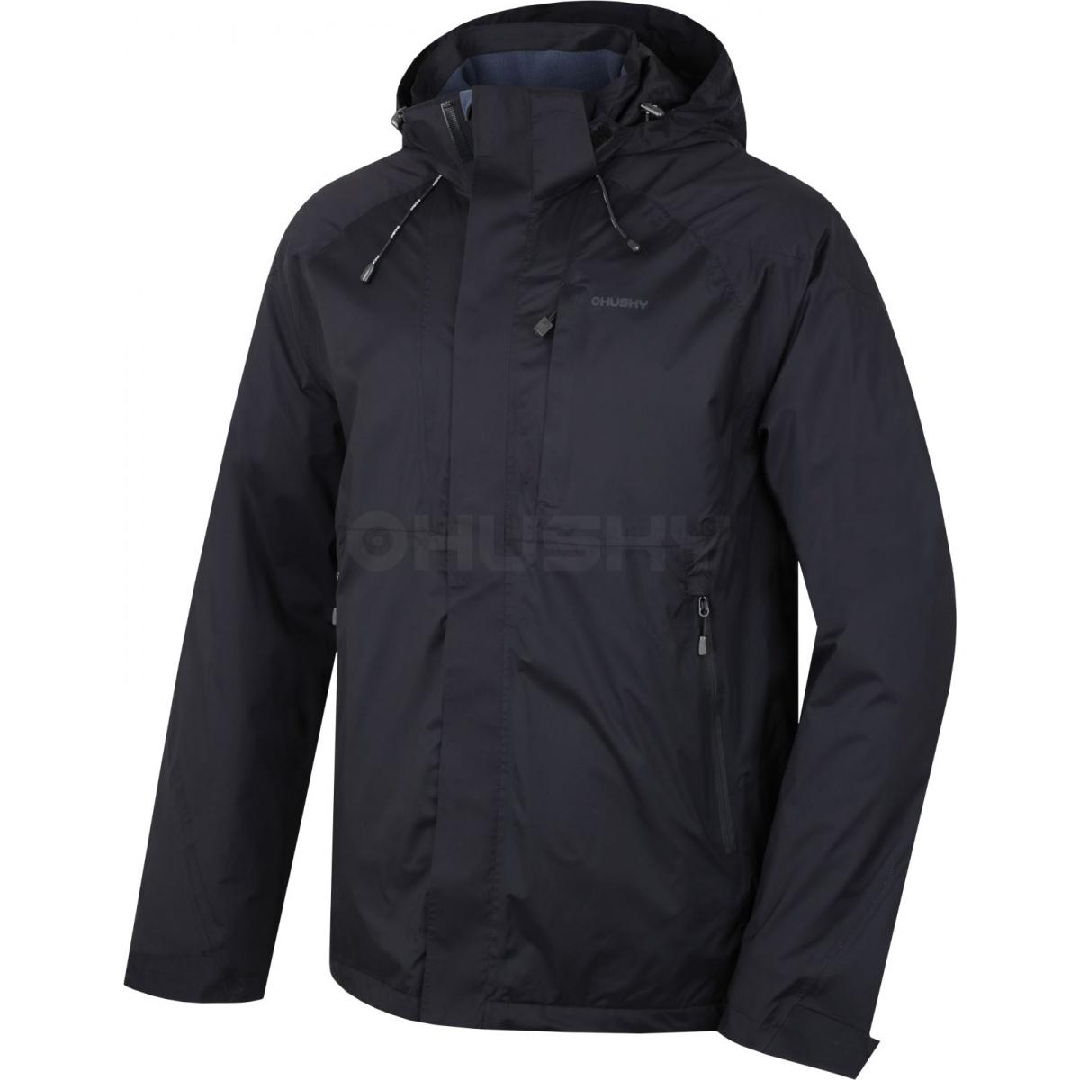 Pánská hardshell bunda - Nia M – černá  80df319d828