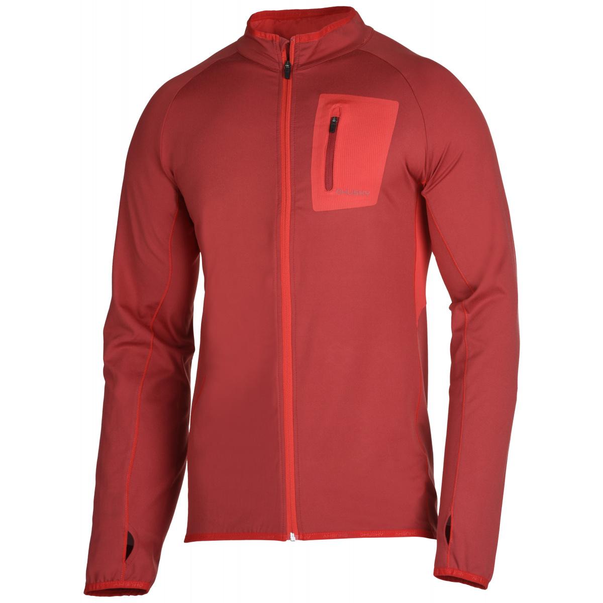 603f5a4a7b0e Pánská mikina - Tarr zip M – tm. červená
