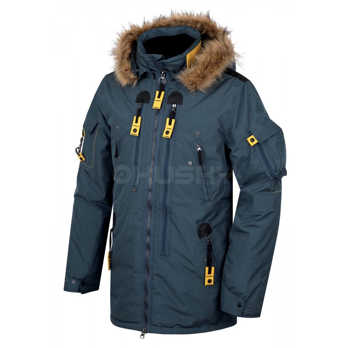 76f788ec61 Pánská plněná zimní bunda - Nerida – tm.modrá | HUSKYCZ.CZ