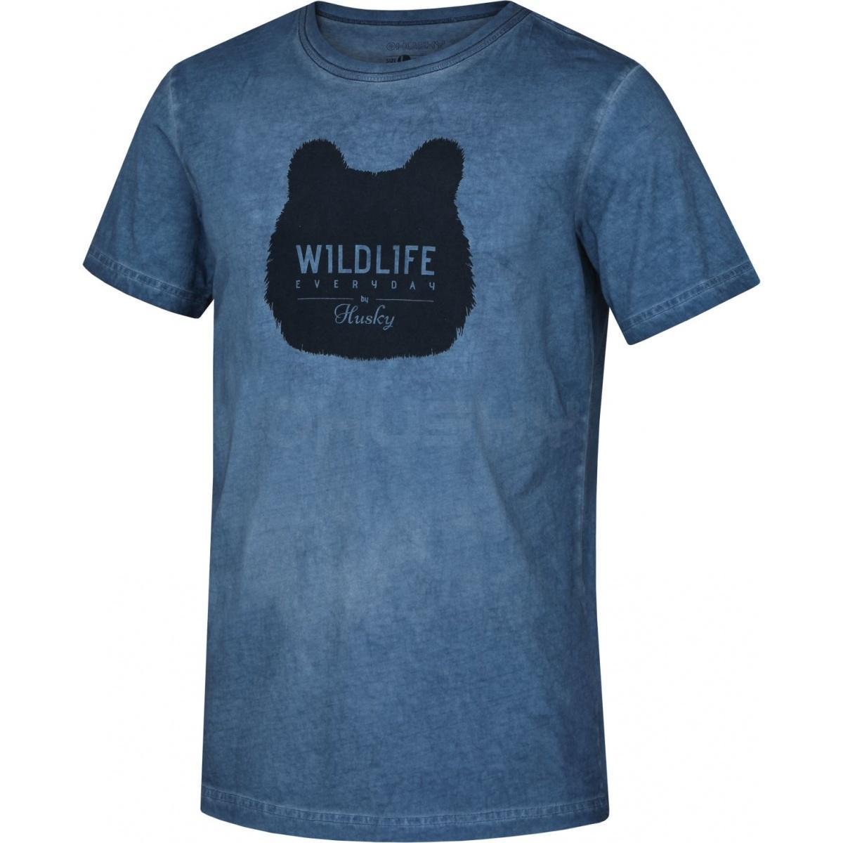 21303441762 Pánské triko - Tendy M – modrá