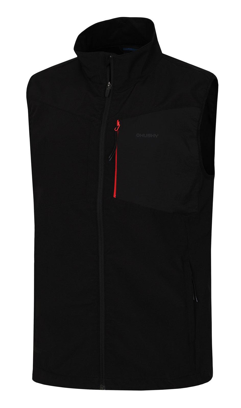 Levně Husky Salien M L, černá Pánská softshellová vesta
