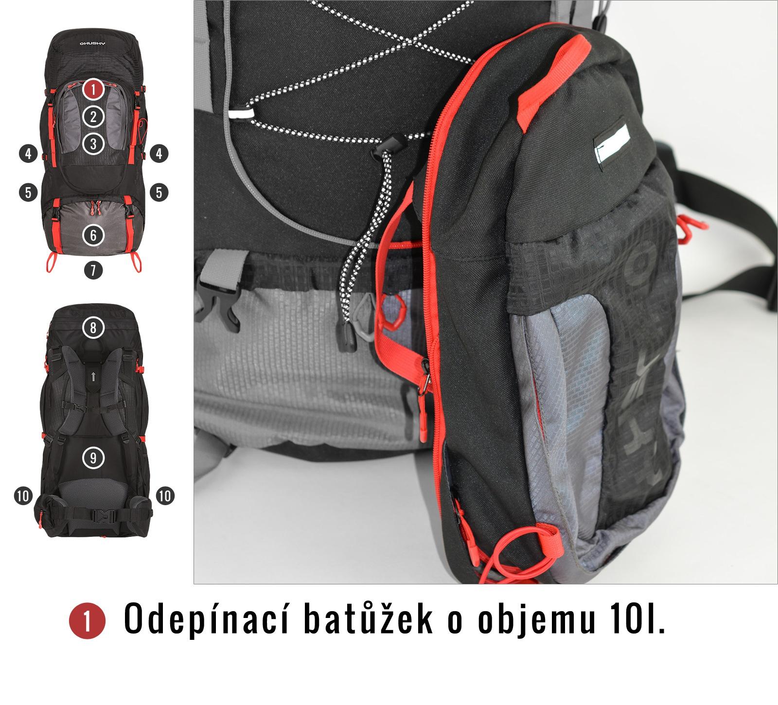 Batoh Expedice   Samont 70+10 l černá