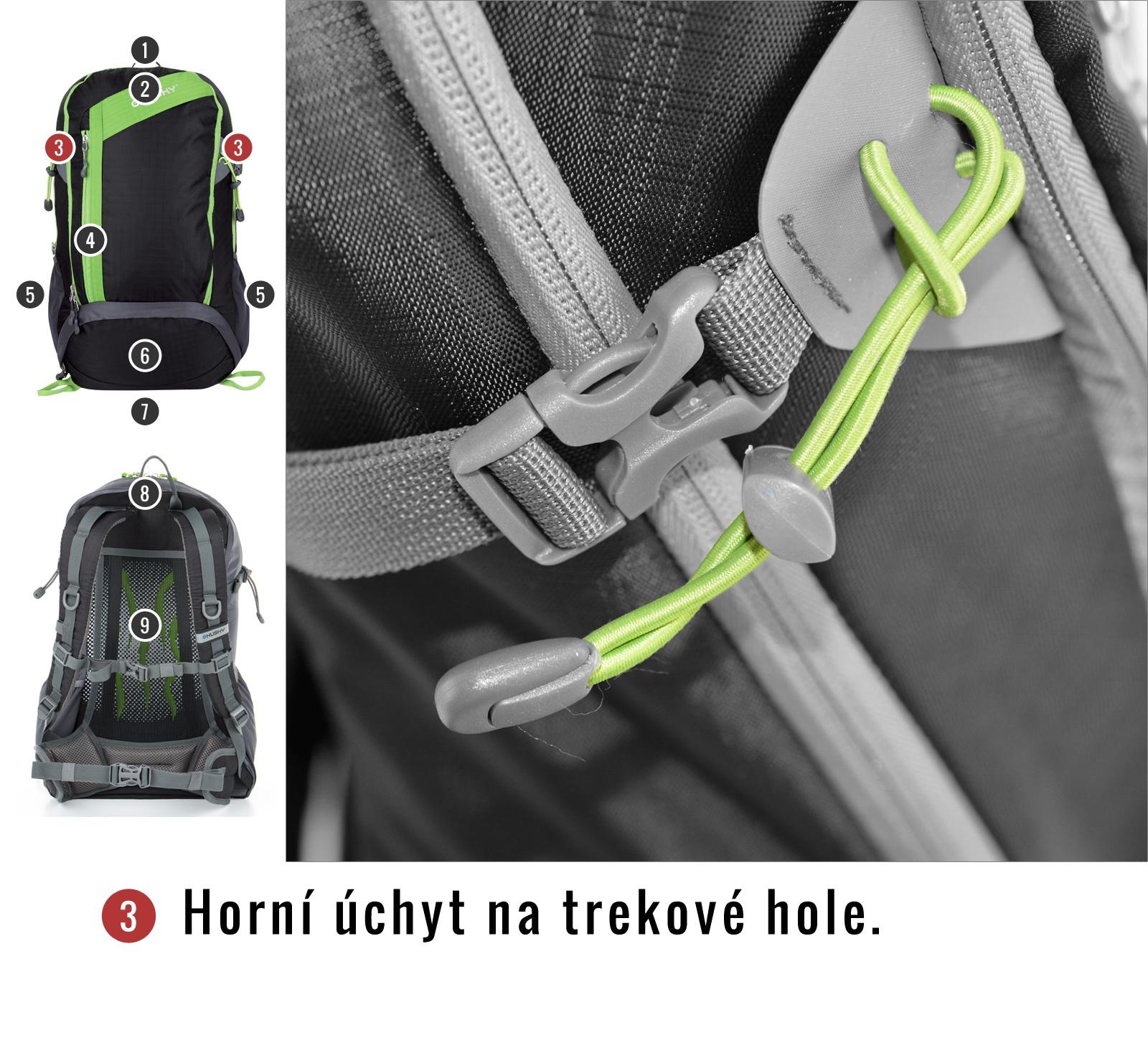 Batoh Turistika   Scampy 35l zelená
