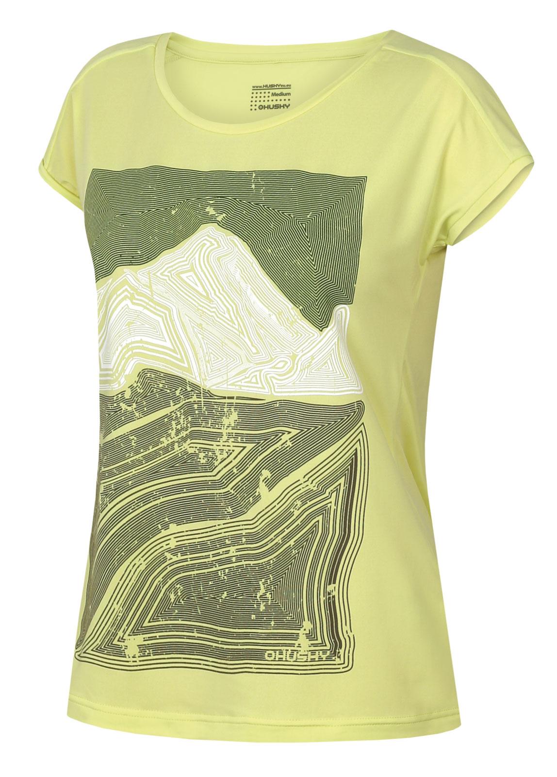 Levně Husky Tash L L, sv. zelená Dámské triko
