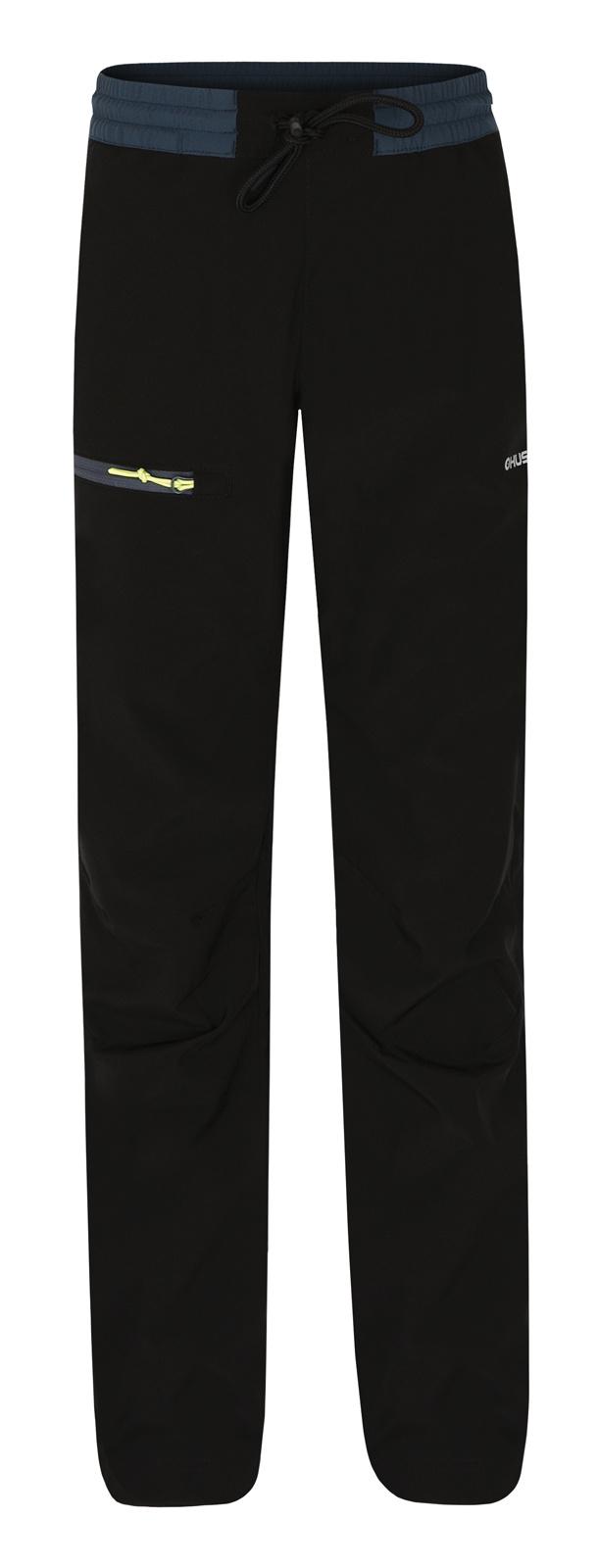 Levně Husky Zane Kids 152-158, černá Dětské softshellové kalhoty
