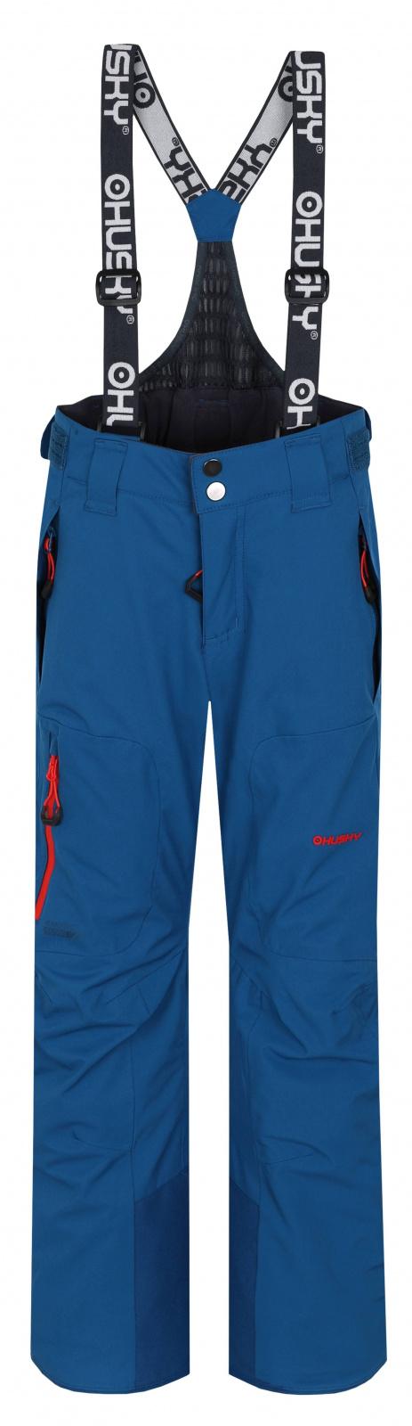 Husky Zeus Kids 134-140, tm. modrá Dětské lyžařské kalhoty
